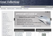 GreatCollections launches Coin Auction and Direct Sale Marketplace.