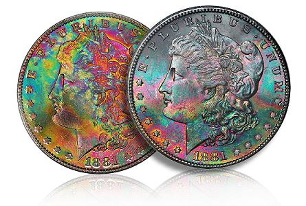 Coin Rarities & Related Topics: Super Premiums for Common Silver Dollars with Attractive Toning