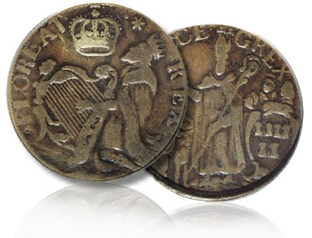 st pat halfpenny Coin Profile: St. Patrick Halfpenny