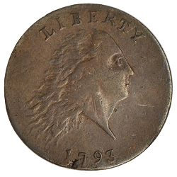 1793 chain 1c sb The First Stack's Bowers Auction, Part 1, Copper and Silver
