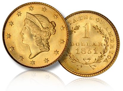 1851 g1 sb balt The First Stacks Bowers Auction, Part 2, Gold Coins