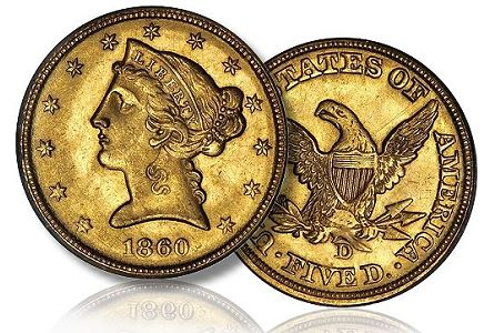 1860 D 5 dwthumb The State of the Dahlonega Gold Coin Market, 2011