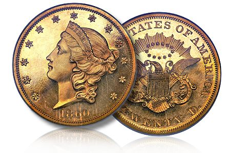 1860 pr 20 ha csns2011 Coin Profile: Proof 1860 $20 Double Eagle