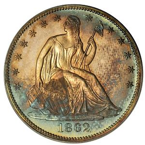 1862 50c sb The First Stack's Bowers Auction, Part 1, Copper and Silver
