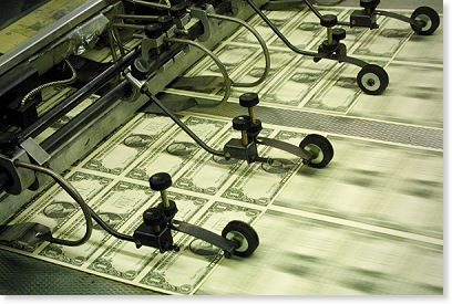BEP press dollars Fed's printing press likely to boost bullion through June.