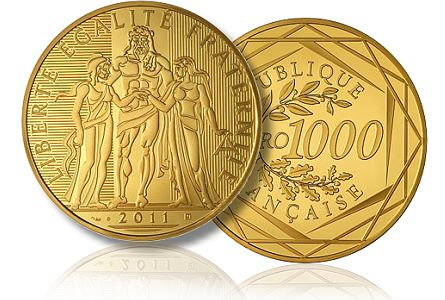 French Mint Sold Out of New 1,000-euro gold coin, before July Release