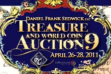 Sedwick's Treasure And World Coin Auction #9 Is Now Online !