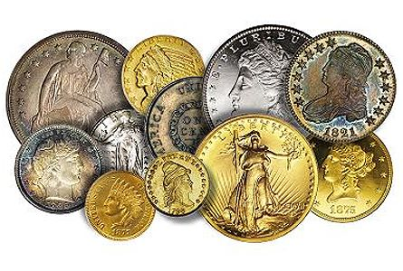 us coins allthumb Thinking of Trading Certified Rare Coins for Bullion?