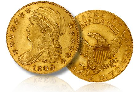 1809 8 5 spink The Magnolia Collection of Early U.S. Gold Coins, late 19th century Patterns, Trade Dollars and more!