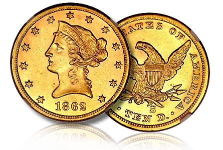 1862 S hacsns2011 ngc61 US Coins: The $103,500 1862 S Eagle