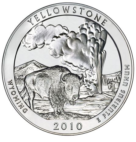 2010 atb yellowstone US Mint News Roundup   2011 Proof Buffalo, Grant Presidential Dollar, Platinum Proof Eagle, Yellowstone 5 oz ATB