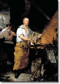 """Pat Lyon at the Forge,"" painted by John Neagle in 1829. Courtesy of the Pennsylvania Academy of Fine Arts, Philadelphia. Gift of the Lyon Family."
