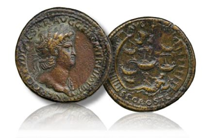 Nero Sesterius Baldwins Presents The David Heuer Collection of Ancient Coins