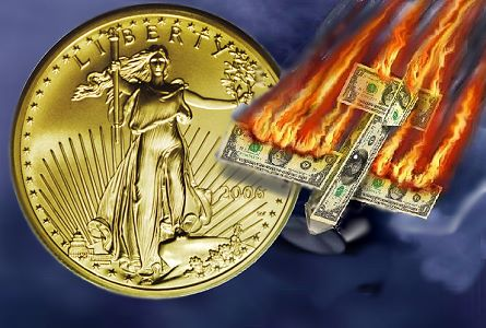 dollar flames Hyperinflation, Gold Confiscation or Gold Standard Coming Soon? ....Maybe