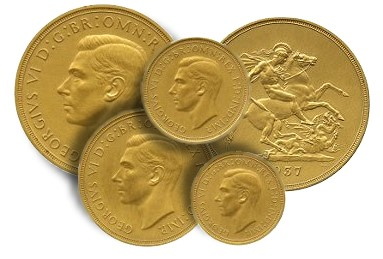 Enough to leave the King speechless… George VI gold coin set sells for $147,300