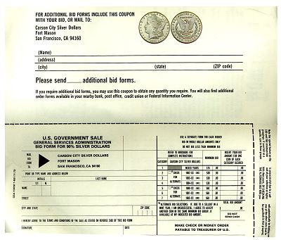 gsa order form  Collecting Morgan Dollars Part I: an Overview