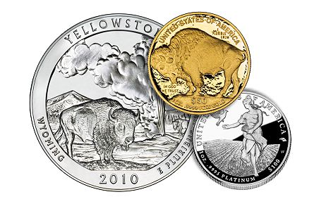 US Mint News Roundup – 2011 Proof Buffalo, Grant Presidential Dollar, Platinum Proof Eagle, Yellowstone 5 oz ATB
