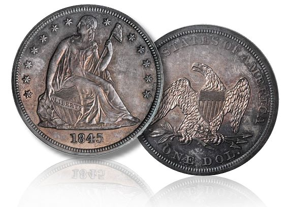 1845 1 pr pcgs secure sb+june2011 lg Coin Rarities & Related Topics: The June 2011 Baltimore Auction, part 1, copper and silver