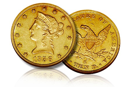 1856 S 10 dw The 1856 S Eagle: A Study of Mintmark Varieties