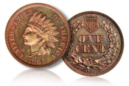 1865IndianHeadCent Coin Rarities & Related Topics: The June 2011 Baltimore Auction, part 2, patterns and gold coins