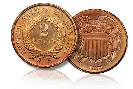 1871 2c sb 062011 Coin Rarities & Related Topics: The June 2011 Baltimore Auction, part 1, copper and silver
