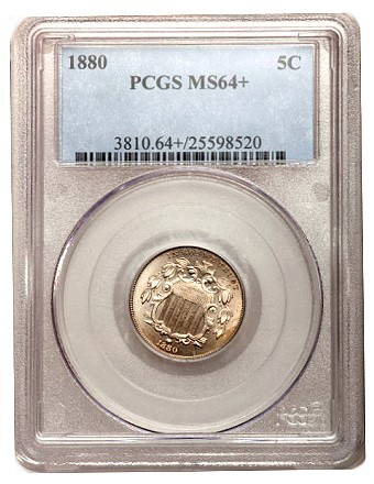1880 5c ha lb june2011 Coin Rarities & Related Topics: The June 2011 Long Beach Auction, with emphasis on Lincoln Cents