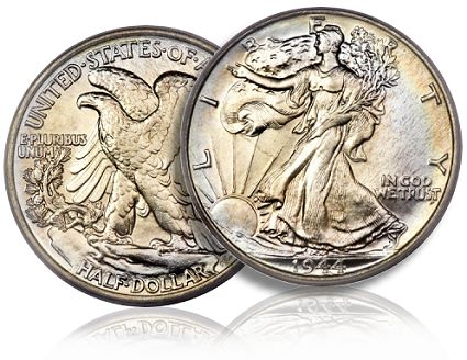1944 40c pcgs68 100K Broad Demand Seen For Walking Liberty Half Dollars