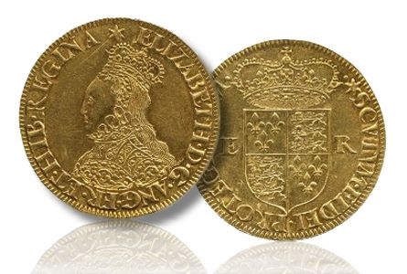 Elizabeth I Gold Queen Bess Rules at St Jamess... Rare Elizabeth I Coin Achieves $37,800