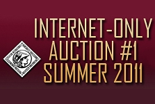 "Sedwick announces their first ""Internet Only"" auction closing July 28, 2011"