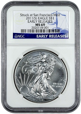 ngc s mint eagles NGC to Certify San Francisco Mint Silver Eagles
