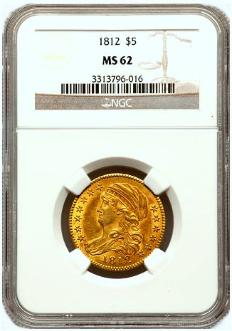 1812 5 ngc62 sum fun1 Coin Rarities & Related Topics: The Summer FUN Auction, part 2, early gold
