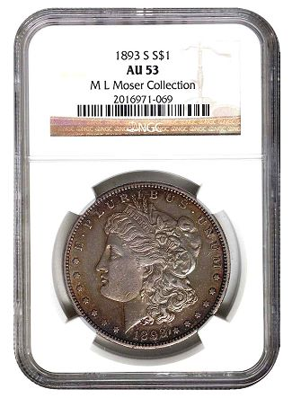 1893 s 1 moser NGC Exhibits the Moser #1 Morgan Silver Dollar Registry Set at the 2011 ANA World's Fair of Money
