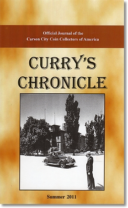 Currys Book Review   Curry's Chronicle: Official Journal of the Carson City Coin Collectors of America