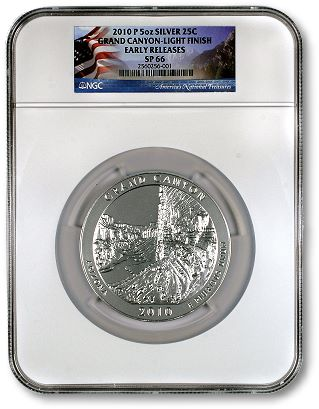 NGC GrandCanyon NGC Recognizes New Variety of 2010­P Grand Canyon 5 Ounce Specimen Issue