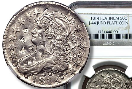 Coin Profile: Counterpunched Platinum 1814 half dollar pattern