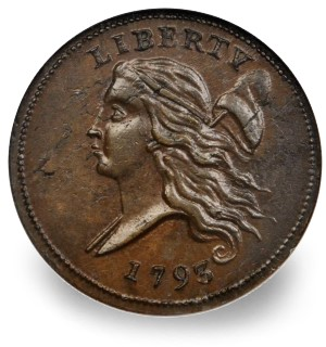 1795 half cent sbchicago Coin Rarities & Related Topics: The Rarities Night auction at the ANA Convention, part 4, Results