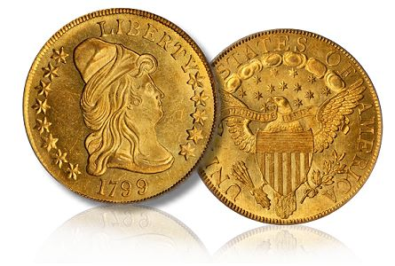1799 10 chicago2011 Coin Rarities & Related Topics: The Rarities Night auction, part 3, Gold Coins