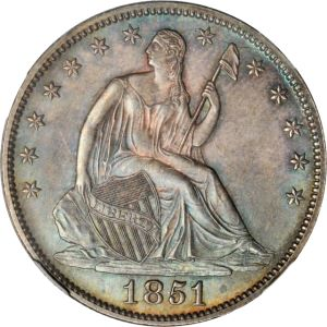 1851 50c gr Coin Rarities & Related Topics: The Rarities Night auction, part 1, overview