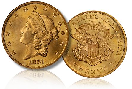 1861 20 chicago2011 Coin Rarities & Related Topics: The Rarities Night auction, part 3, Gold Coins