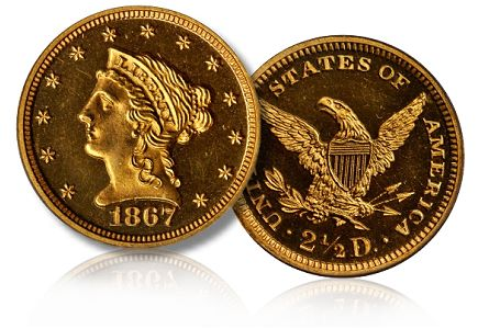 1867 250 chicago2011 Coin Rarities & Related Topics: The Rarities Night auction, part 3, Gold Coins
