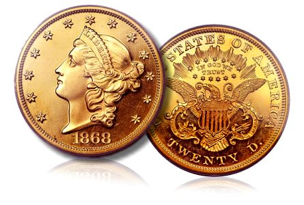 1868 20 pr ha 0812111 Coin Profile: 1868 Liberty Double Eagle, Proof Deep Cameo