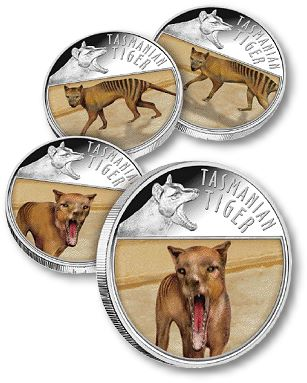 DowniesTiger Downies Presents the 2011 Tasmanian Tiger Lenticular Coin