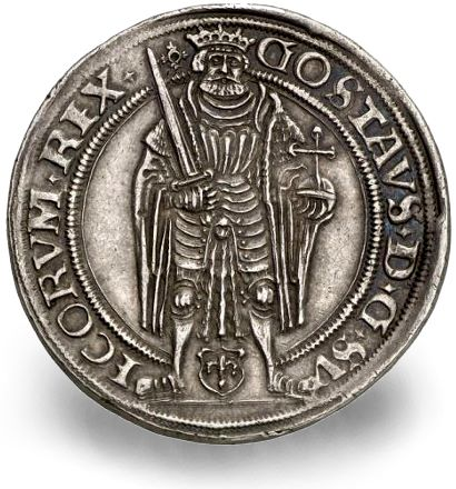 Triumphant: Gustav Vasa on his Sweden coronation coin