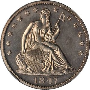 Half1847obv1 Coin Rarities & Related Topics: Rarities Night, part 5; Post Auction Analysis of Silver Coins