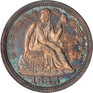 Proof1843DimeObv Coin Rarities & Related Topics: Rarities Night, part 5; Post Auction Analysis of Silver Coins