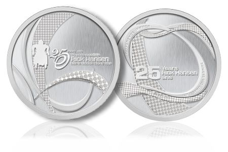 Rick Hansen ROYAL CANADIAN MINT CELEBRATES THE 25TH ANNIVERSARY OF THE MAN IN MOTION WORLD TOUR