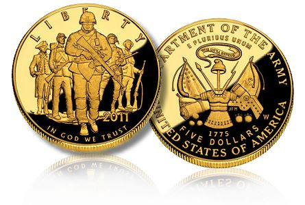 army 5 commem1 The Coin Analyst: U.S. Mint Suspends Sales of Gold Commemorative Coins to Develop New Pricing Structure.