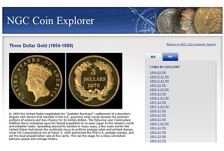 NGC Releases Coin Explorer online reference for US coins