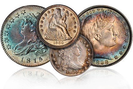 Coin Rarities & Related Topics: The Rarities Night auction, part 2; Dimes, Quarters & Half Dollars