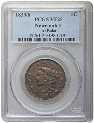 1839 6 1c boka Coin Rarities & Related Topics: The Al Boka Collection of Large Cents By Date